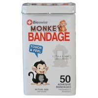 Watchitude Monkeys-Shaped Bandaids - 50 Adhesive Bandages