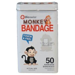 Watchitude Monkeys-Shaped Bandaids - 50 Adhesive Bandages