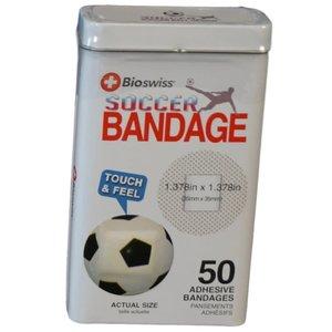 Watchitude Soccer Ball-Shaped Bandaids - 50 Adhesive Bandages