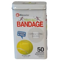 Watchitude Tennis Ball-Shaped Bandaids - 50 Adhesive Bandages