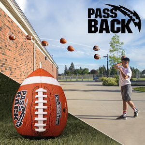 Passback Sports PeeWee Composite Passback Football (Ages 4-8)