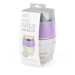 True Brands Wine Freeze Cooling Cup in Lavender Single