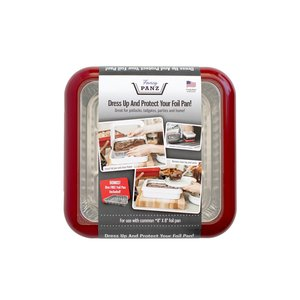 Fancy Panz Fancy Panz-  2 in 1 - Red (8x8 size) - Dress up and Protect your Foil Pan!