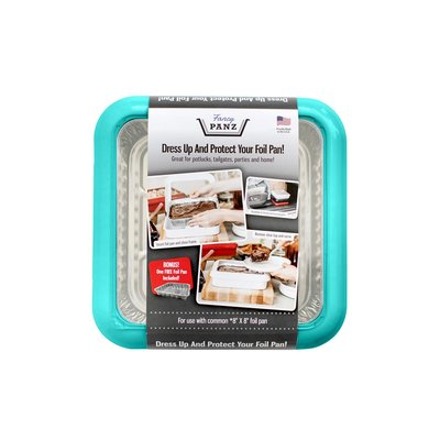 Fancy Panz Fancy Panz-  2 in 1 - Aqua (8x8 size) - Dress up and Protect your Foil Pan!