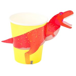 Talking Tables Party Dinosaur 250ml Cup with Wrap 8Pk