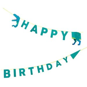 Talking Tables Party Dinosaurs - Happy Birthday Garland (3.5m)