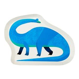 Talking Tables Dinosaur Shaped Plate (12Pk)