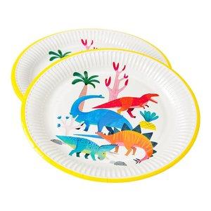Talking Tables Dinosaur Plate 23cm 8Pk