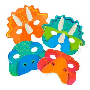 Talking Tables Party Dinosaur Masks 4 Designs, 8Pk
