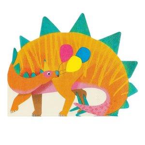 Talking Tables Party Dinosaurs Shaped Napkin 16Pk