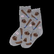 Hot Sox (Youth) Baseball Socks - Grey