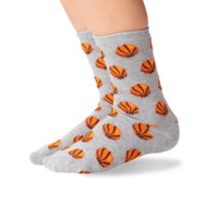 Hot Sox (Youth M/L) Basketball Socks - Grey