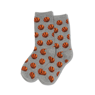 Hot Sox (Youth M/L) Basketball Socks - Grey