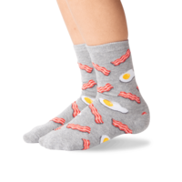 Hot Sox (Youth) Eggs and Bacon Socks - Grey