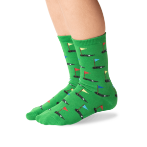 Hot Sox (Youth L/XL) Golf Socks - Green