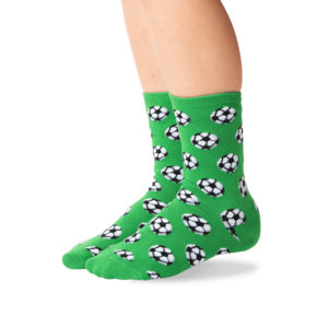 Hot Sox (Youth) Soccer Ball Socks - Green