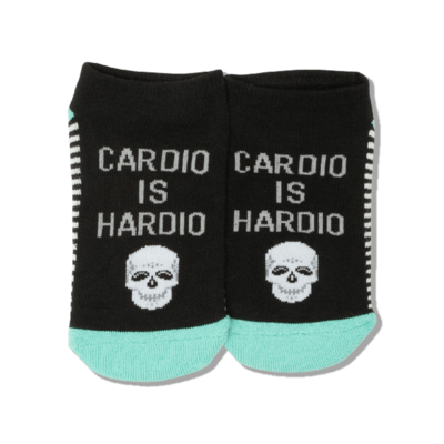 Hot Sox (Womens) Cardio is Hardio Socks - Black