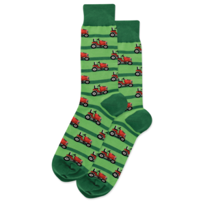 Hot Sox (Mens) Lawn Mower Socks - Green