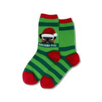 Hot Sox (Womens) Bah Humpug Socks- Green
