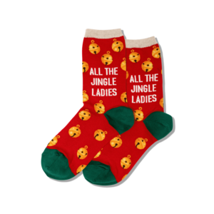 Hot Sox (Womens) All the Jingle Ladies Socks - Red