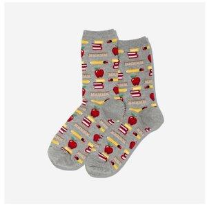 Hot Sox (Womens) Teacher's Pet Socks - Grey