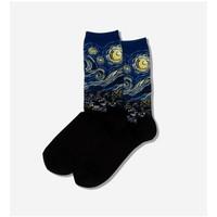 Hot Sox (Womens) Starry Night Socks - Royal Blue