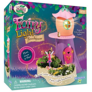 PlayMonster My Fairy Garden - Fairy Twinkling Lights Treehouse - Includes Everything you need to Plant, Grow and Play!