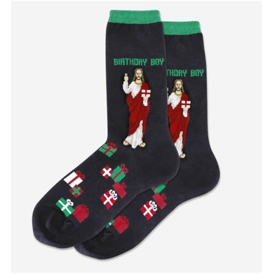 Hot Sox (Women's) Birthday Boy Socks - Black