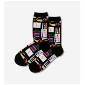 Hot Sox (Womens) Art Supplies Socks - Black