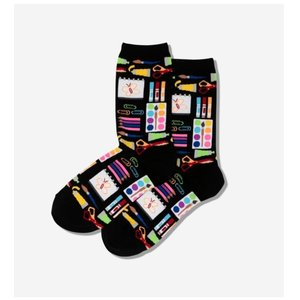 Hot Sox (Womens) Art Supplies Socks - Black