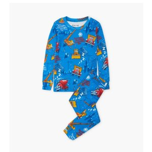 Hatley Goodnight Construction Site - Pajama Set (Blue)