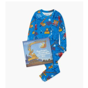 Hatley Goodnight Construction Site - Pajamas + Book - Hanging