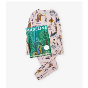 Hatley Long Sleeve Madeline Pajama Set - W/Book (Pink)