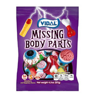 Redstone Foods Vidal - Missing Body Parts Gummy Candy - Peg bag