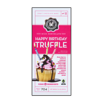 Redstone Foods C3 Chocolate Bar - Milk Happy Birthday Truffle