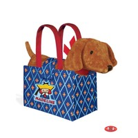 Yottoy Productions, Inc. Genevieve the Dog in Madeline Tote Bag - Plush Stuffed Animal