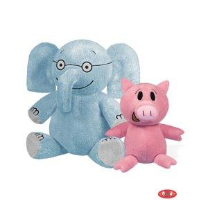 "Yottoy Productions, Inc. Elephant 7"" & Piggie 5"" - Pair of Plush Stuffed Animals - Mo Willems"