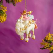 "Glitterville Calowishus The Camel Ornament, Resin, 6"""