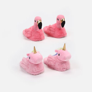 """One Hundred 80 Degrees Flamingo  Slippers - Plush, 10.5"""""""