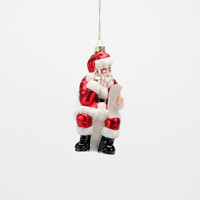 One Hundred 80 Degrees North Poo Santa Ornament, Glass, 4.75""