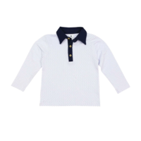 Korango Classic Polo Shirt - Navy Collar (white polka dots)