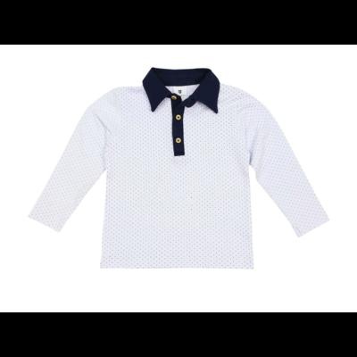 Korango Classic Polo Shirt - Navy Collar (white polka dots)