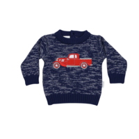 Korango Vintage Car Knit Sweater - Navy Fleck