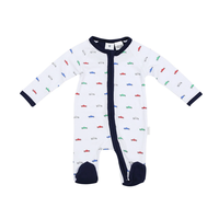 Korango Vintage Car Cotton Romper - White