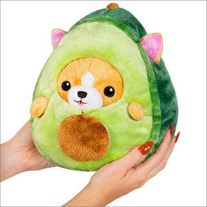 """Squishables Plush Stuffed Undercover Corgi in Avocado (7"""")"""