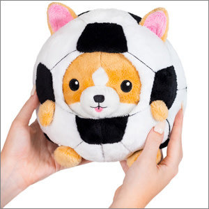 """Squishables Plush Stuffed Undercover Corgi in Soccer Ball (7"""")"""