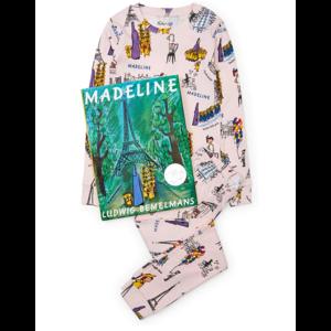 Hatley Long Sleeve Madeline Pajama Set - W/Book - Hanging (Pink)
