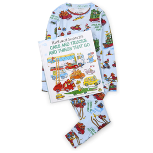 Hatley Long Sleeve Cars and Trucks Pajama Set - W/Book - Hanging