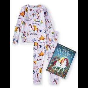 Hatley L/S Uni the Unicorn Pajama Set - w/ Book (Purple) - Hanging Set