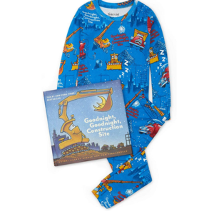 Hatley L/S Goodnight Contrustion Site Pajama and Book Set